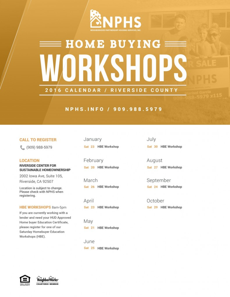 Home Buying Workshops Riv County