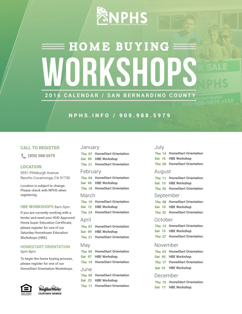 Home Buying Workshops SB County