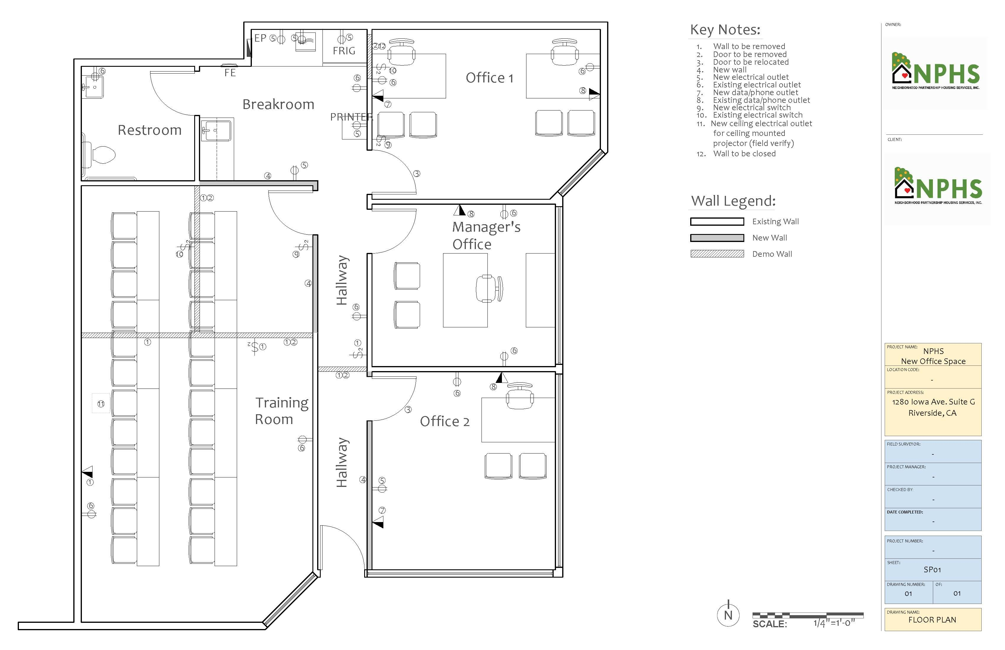 Commercial Space Planning consulting office designs blueprints layout