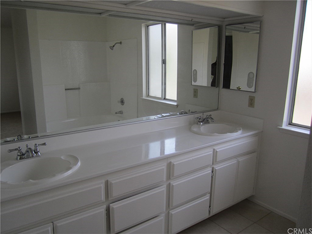 home bathroom white vanity