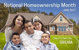 National Homeownership Month June 2017