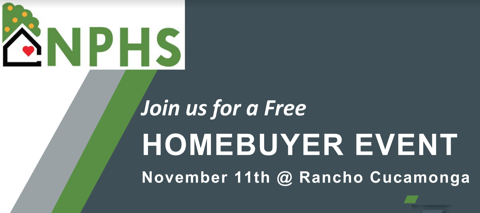Home Buyer Resources Event in Rancho Cucamonga @ NPHS Training Center | Rancho Cucamonga | California | United States