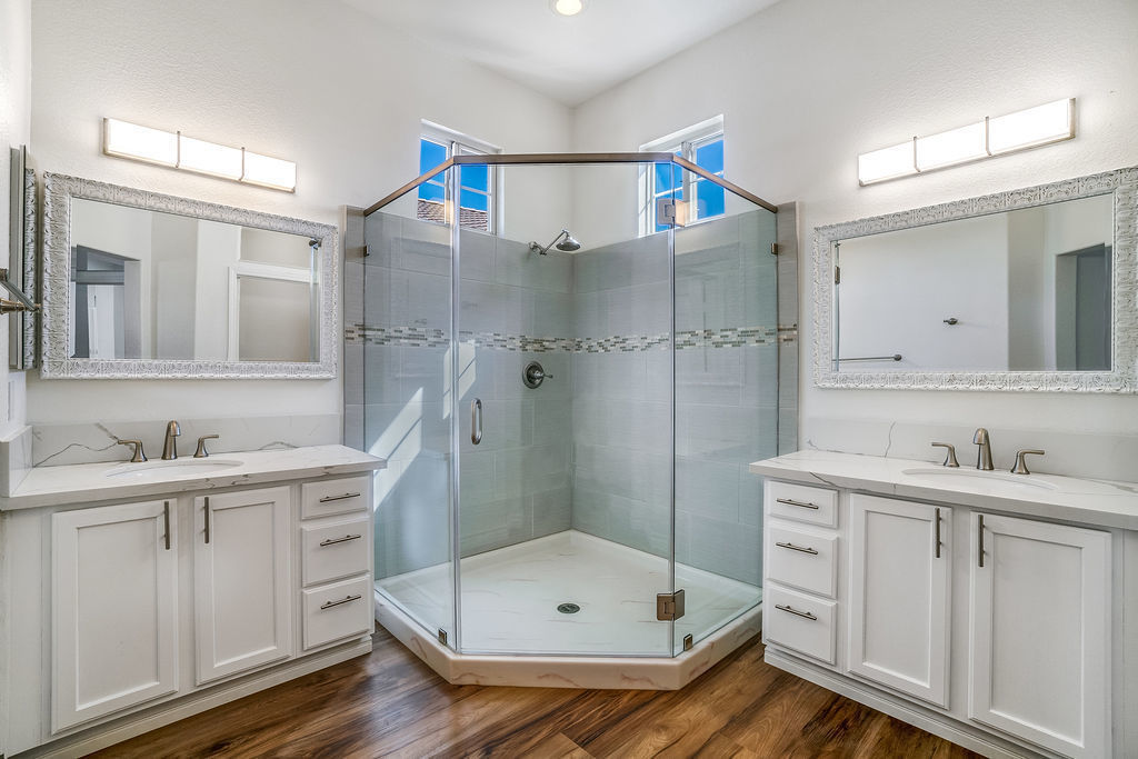 Photo of remodeled bathroom interior of Troon property