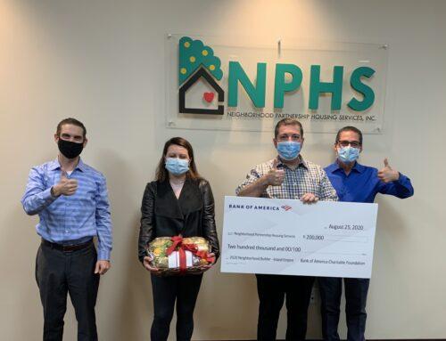 NPHS Named 2020 Bank of America Neighborhood Builders® Awardee